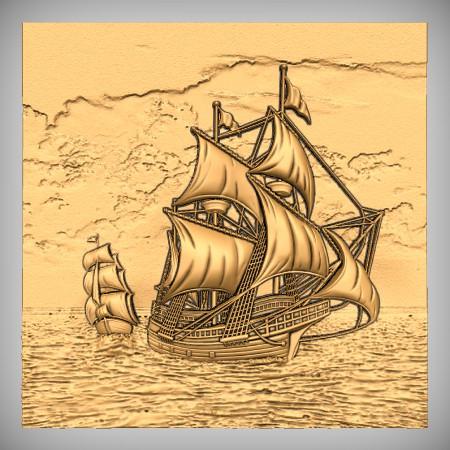 Pirate Ship CNC Model