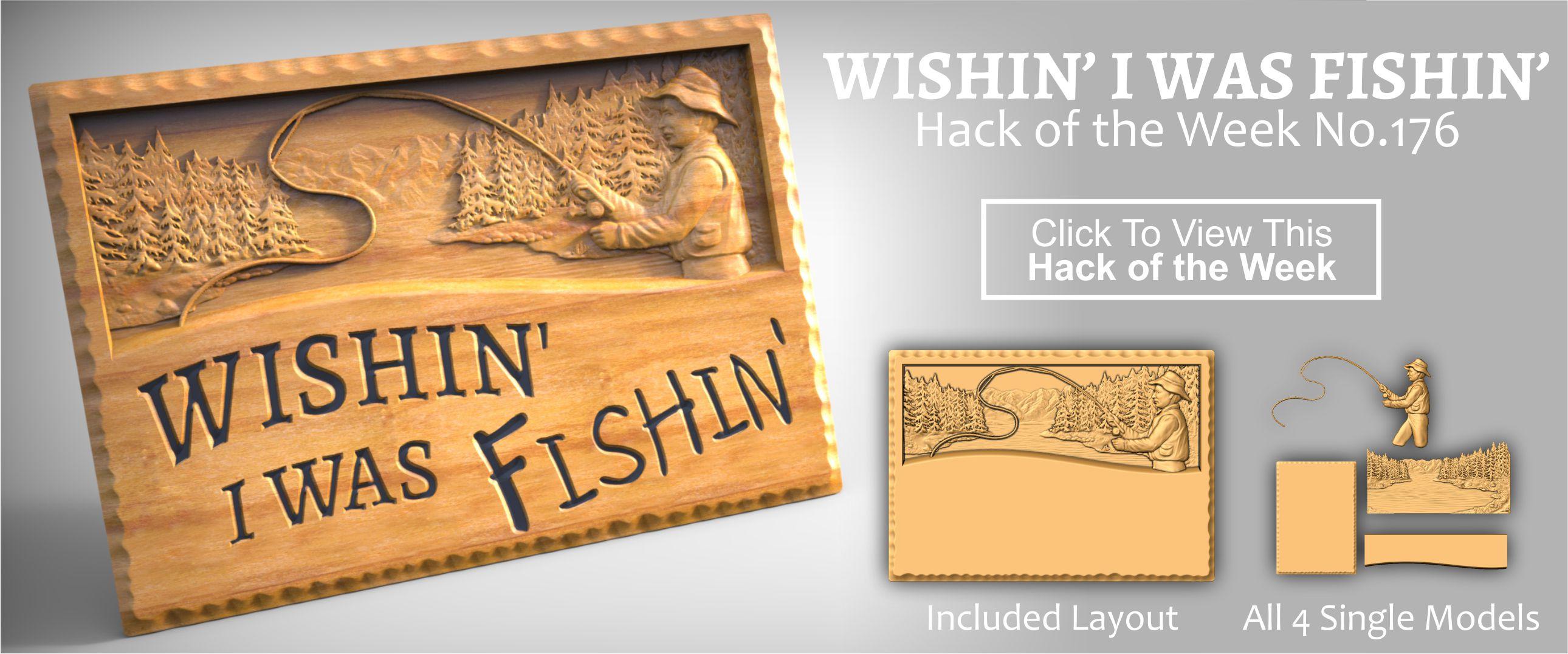 Gone Fishing CNC Sign