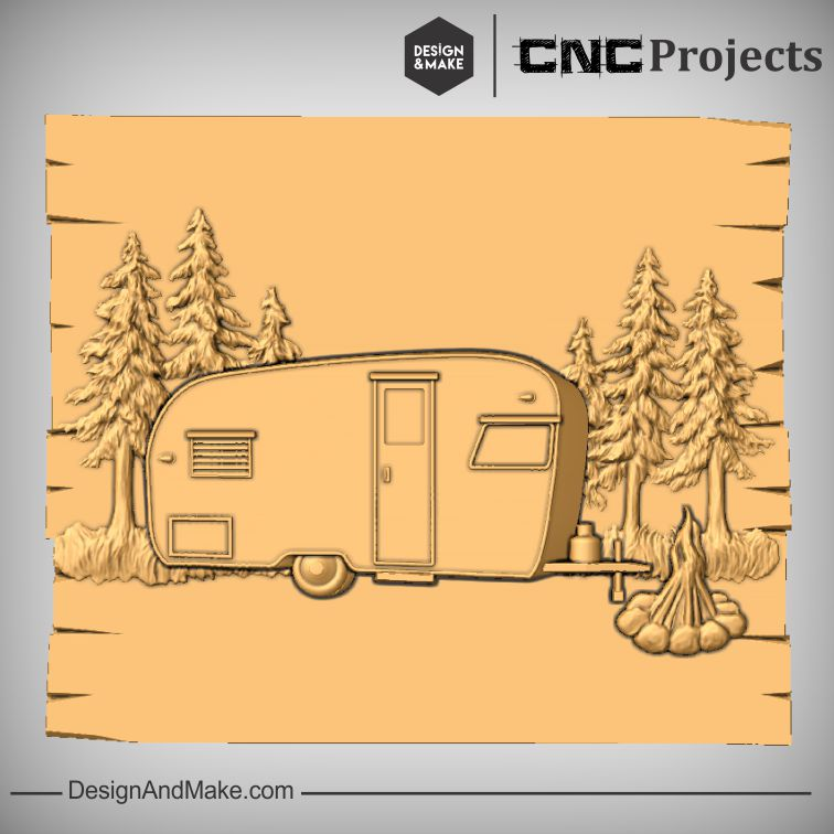 Caravan Camping CNC Models