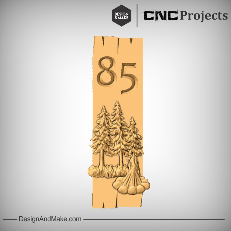 Woods Number Sign CNC