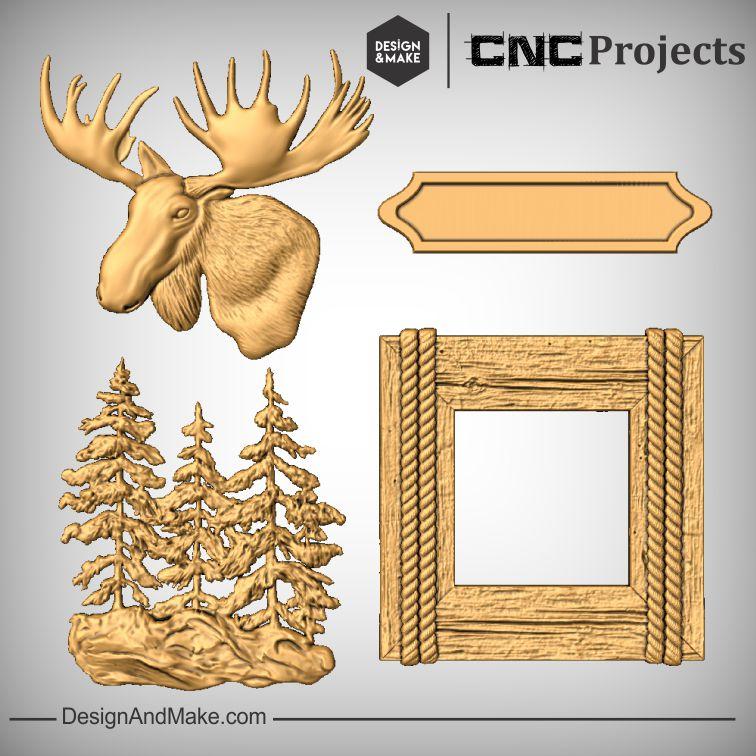 Moose CNC Sign