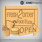 Food This Way Sign CNC