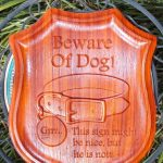 Beware Dog CNC Wood Sign