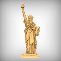 Statue of Liberty CNC Model