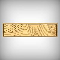 American Flag CNC Model