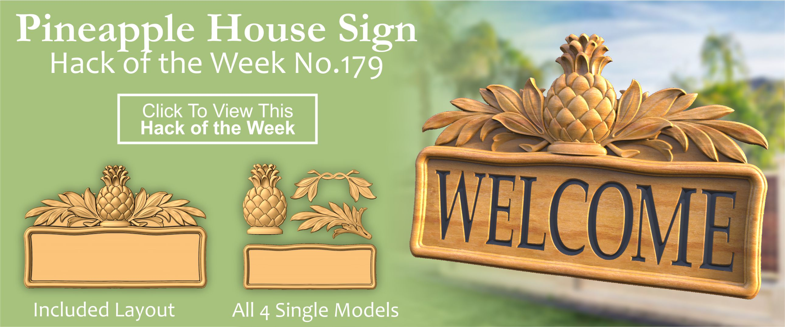 Pineapple House Sign CNC Project