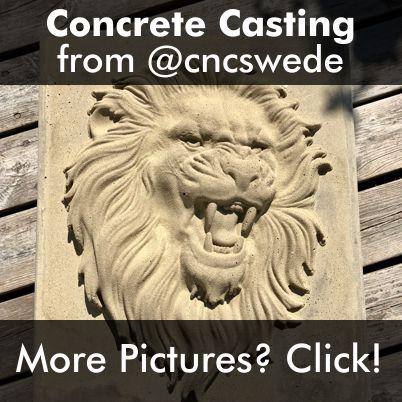 Lion Concrete Casting CNC Model