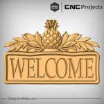 Pineapple Leaves Plaque CNC Project