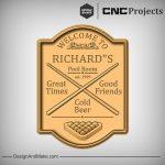 Snooker Poole Plaque CNC Project