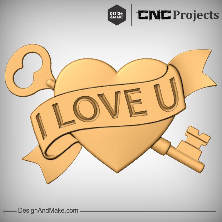 Love Hearts CNC Model