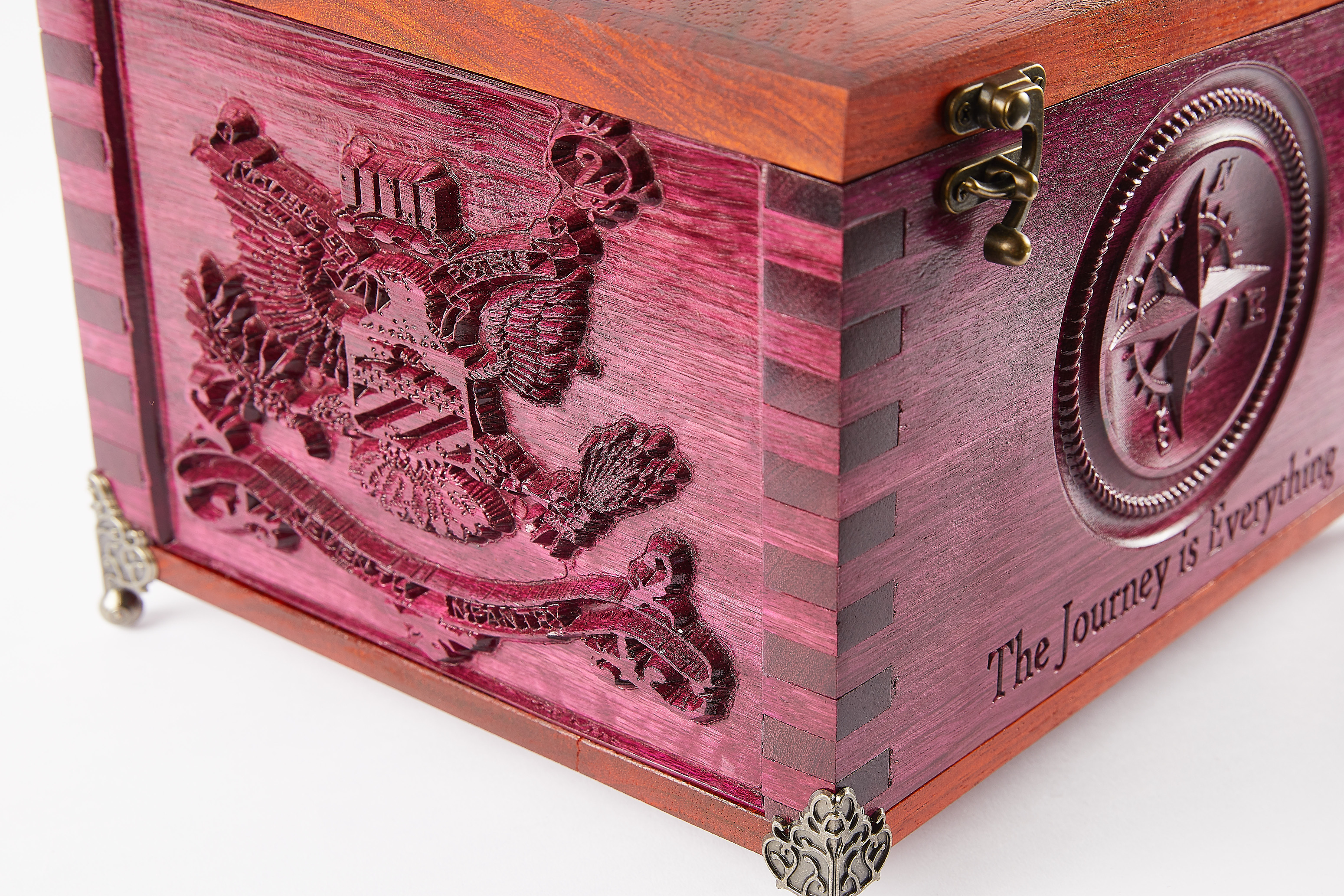 Wood Box Compass Coat of Arms CNC