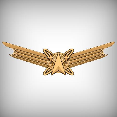 World Travel Badge CNC Model