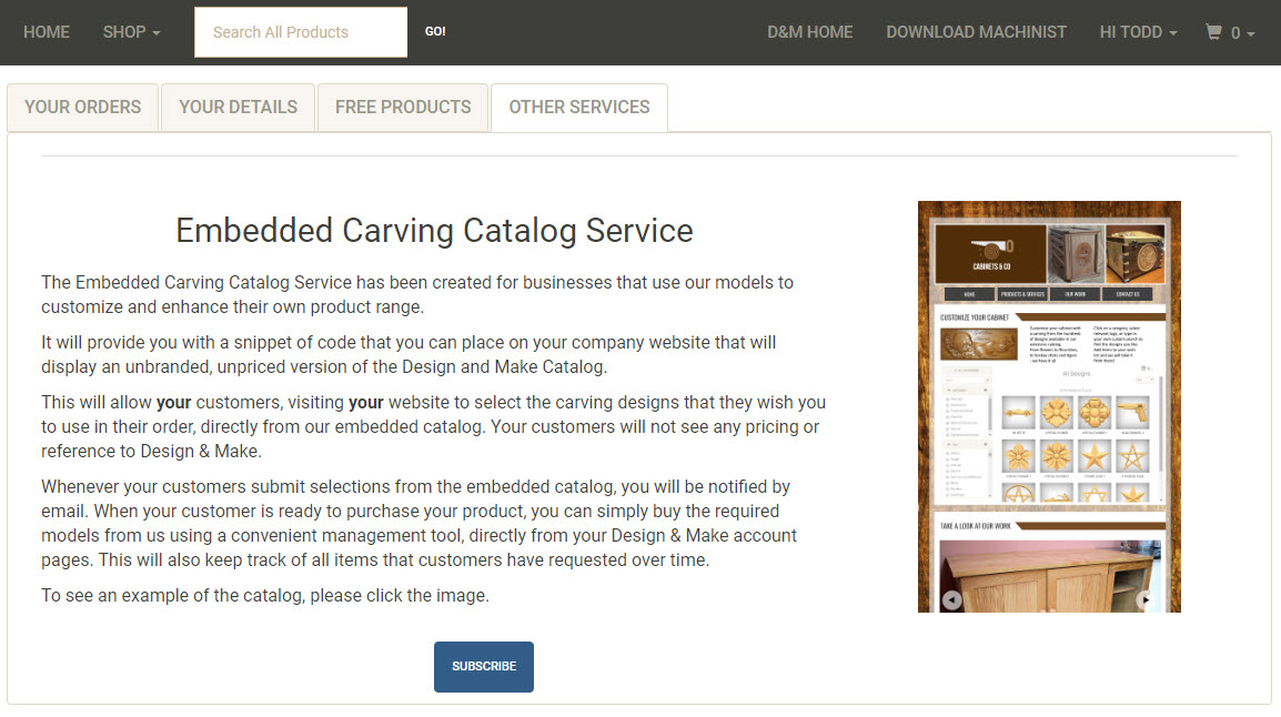 Embedded Carving Catalogue