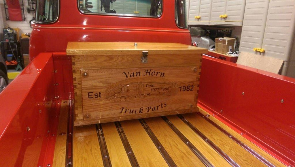 Wood Truck Box CNC Engraving