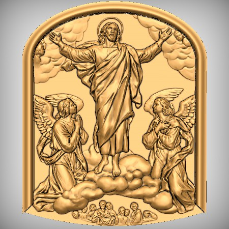 Christ Plaque Christianity CNC Model
