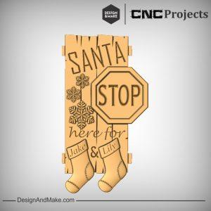 Santa Stop Sign CNC Project