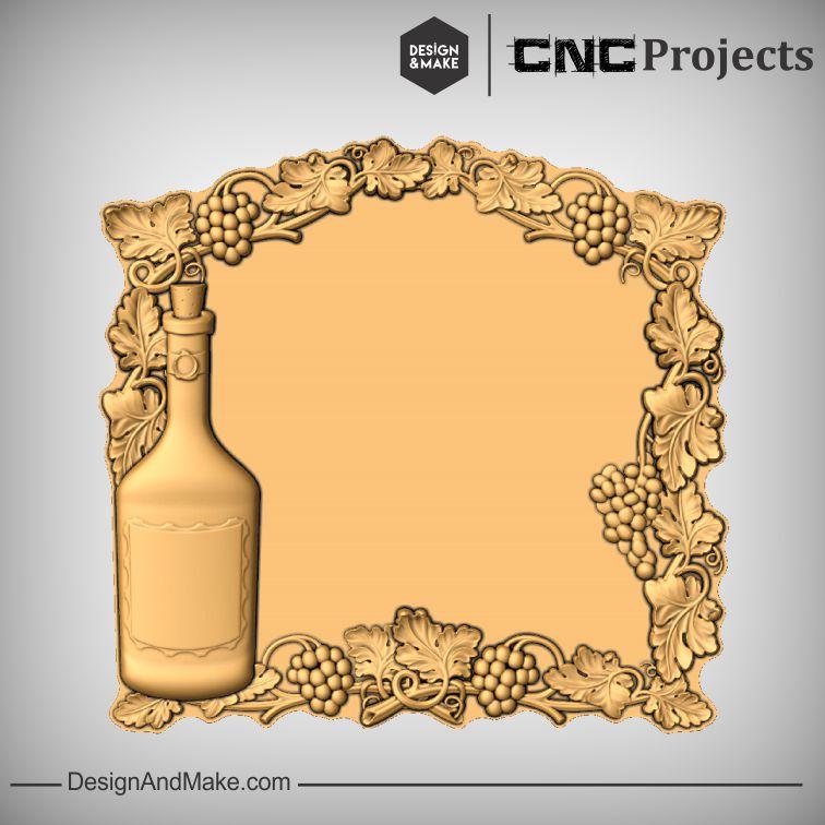 Wine Bottle Grapes CNC Models