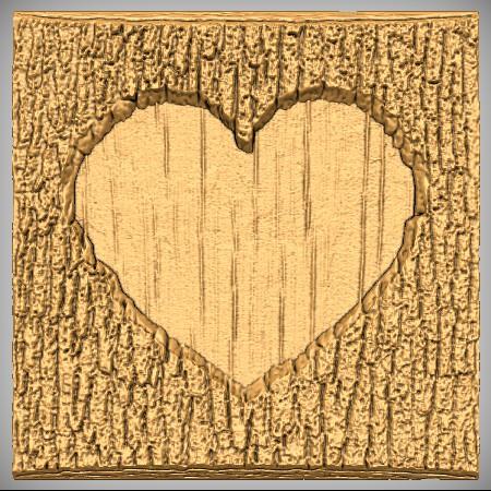 Heart Wood Plaque