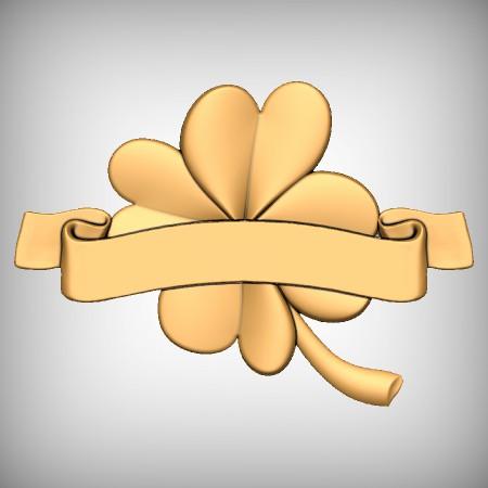 Flower Ribbon CNC Model