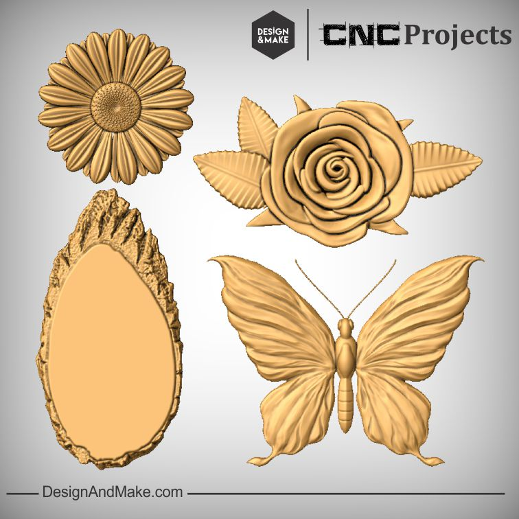 Mom Flowers Projects CNC