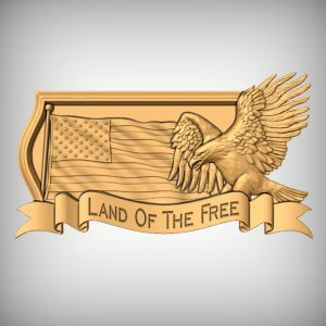 American Flag Eagle Plaque CNC Projects