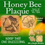 Honey Bee Plaque CNC Project