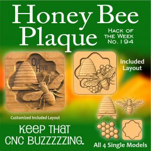 Honey Bee Plaque CNC Project