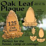 Oak Leaf Plaque CNC Project