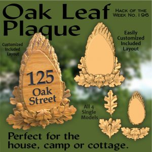 Oak Leaf Plaque CNC Project