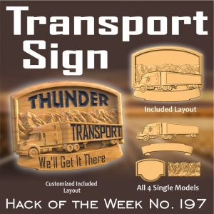 Truck transport sign CNC model project