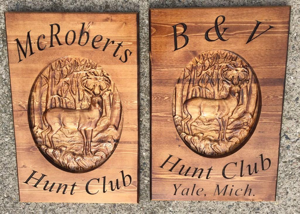 Personalized Wildlife Hunting Club Plaques