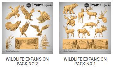 Wildlife expansion packs CNC models