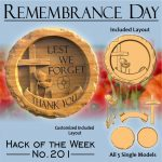 Remembrance day CNC model project