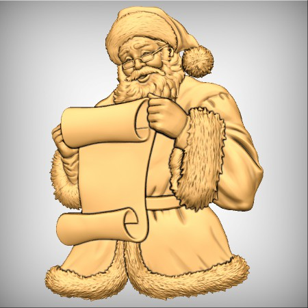 Santa Checking His List - Model From Design & Make