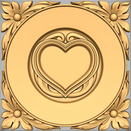 Romantic love plaque CNC project