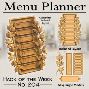 Weekly meal planner CNC project