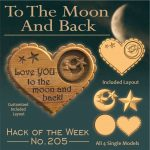 To the moon and back heart shaped sign