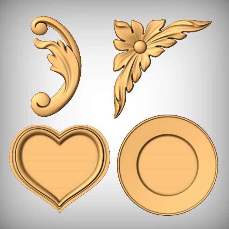 Romantic love plaque CNC models