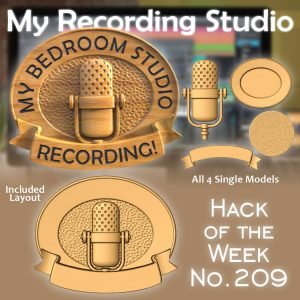 CNC Recording studio sign project