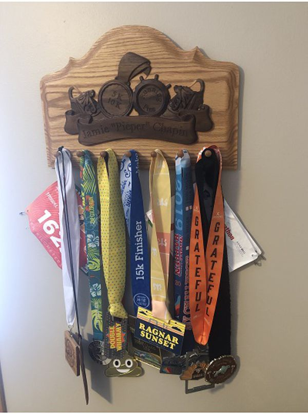 Runners medals hooks with medals