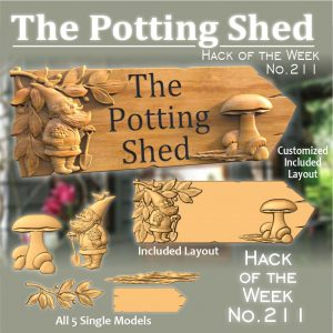 Potting shed sign CNC project