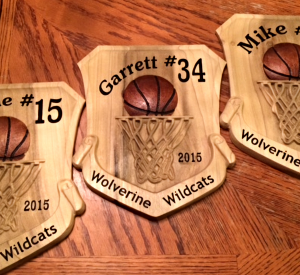 Basketball number hoops plaques