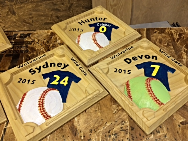 Baseball number plaques