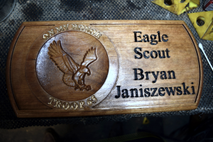 Wood Eagle Scout sign by Design & Make user