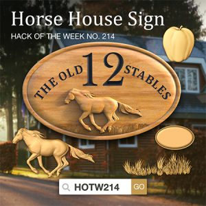 Horse house sign CNC project