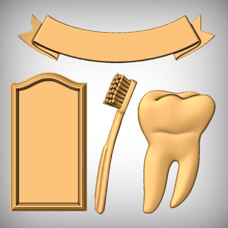 All models clean teeth CNC sign