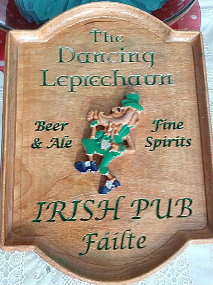 Dancing Leprechaun Sign