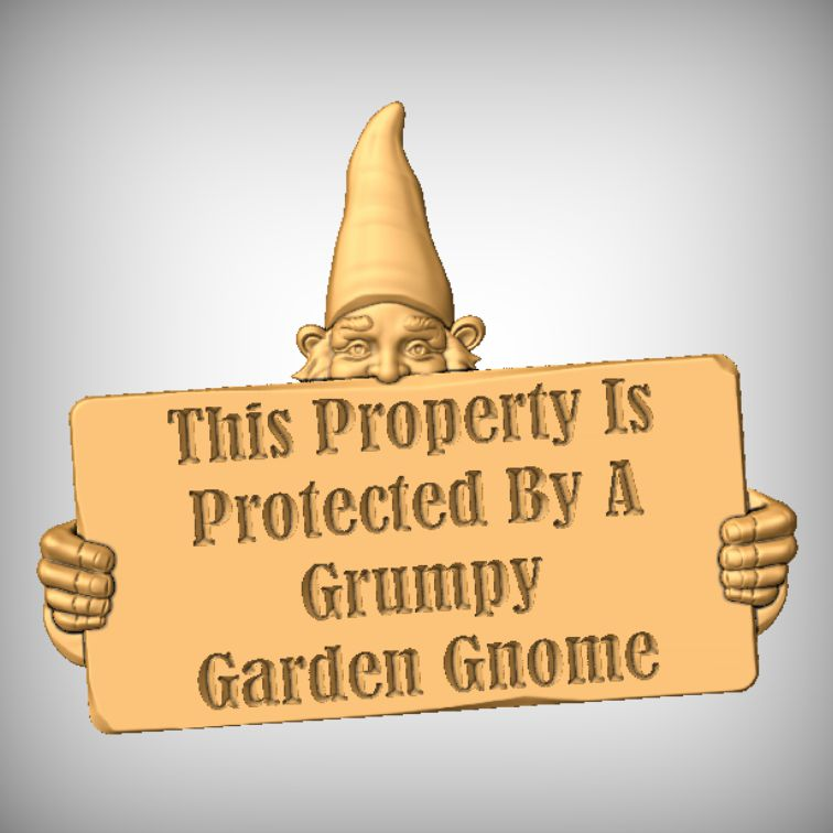 Gnome Message CNC sign