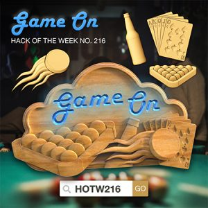 CNC project game on hack of the week models and pool table