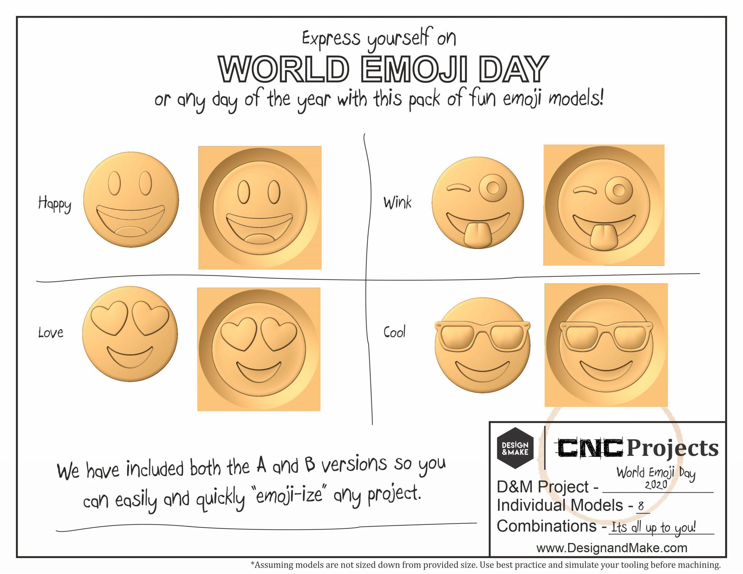 World emoji day CNC project sheet